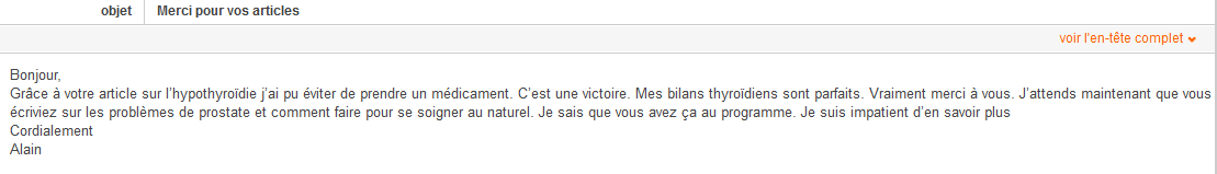 Témoignage Alain